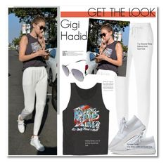"""Get The Look: Gigi Hadid"" by chocolate-addicted-angel ❤ liked on Polyvore featuring Giuseppe Zanotti and Givenchy"