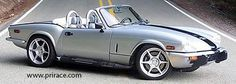 Side exhaust kit on Triumph Spitfire
