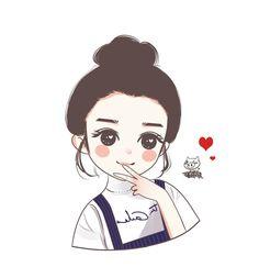 Cute Cartoon Pictures, Cute Love Cartoons, Cute Cartoon Girl, Cartoon Pics, Cartoon Art, Best Friends Cartoon, Friend Cartoon, Cute Girl Wallpaper, Cute Wallpaper Backgrounds