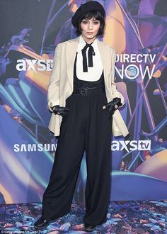 Vintage! On Saturday, Vanessa Hudgens, 29, went back in time for the 2018 DIRECTV NOW Supe...