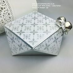 Papercraft With Crafty: Envelope Punch Board Festive Faceted Box !! & VIDEO