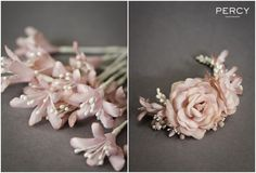 Pink Wedding Headpiece by Percy Handmade
