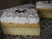 Jablkovo-tvarohové rezy Vanilla Cake, Ale, Desserts, Food, Tailgate Desserts, Deserts, Ale Beer, Essen, Postres