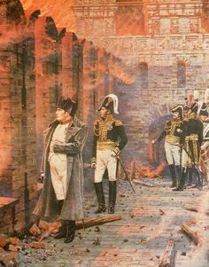 Not a holiday, not a receiving gift - Moscow prepared fire for the impatient hero. From here, immersed in thought, he looked at the terrible flame... 1812