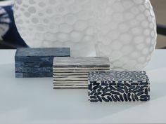 "Legian Navy Blue Bone Inlay Box  Dimensions:6"" x 4"" x 2"" Wipe with a dry cloth"