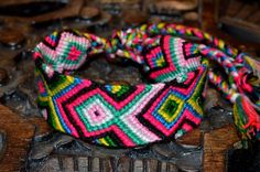 Handmade, Single woven,Friendship Bracelet, Multi Coloured, Fair Trade.Mexico