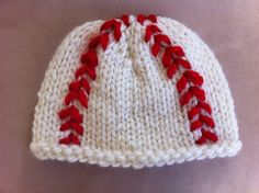 Knit Baseball Hat by MnStyle on Etsy, $15.00