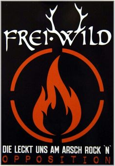 Freiwild Geweih Aufkleber Dark As Black Can Be Frei