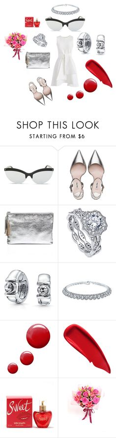 """""""Meeting His Parents"""" by michelle858 ❤ liked on Polyvore featuring STELLA McCARTNEY, Miu Miu, Loeffler Randall, BERRICLE, Bling Jewelry, Topshop, Sisley and Lolita Lempicka"""