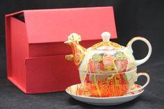 """Gustav Klimt Tee for One """"Die Medizin"""" """"HYGEIA"""" Porzellan mit Geschenkbox Gustav Klimt, Tea Pots, Tableware, Collection, Atelier, China China, Medicine, Dinnerware, Dishes"""