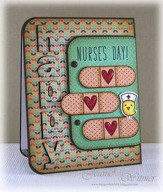 The Spotted Chick: Happy Nurse's Day!, Paper Smooches Healthy Vibes, Lawn Fawn Get Well Soon