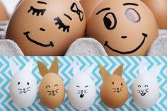 Eieren versieren is een eitje. Met een zwarte viltstift maak je iedereen blij! #pieceofmake #pasen