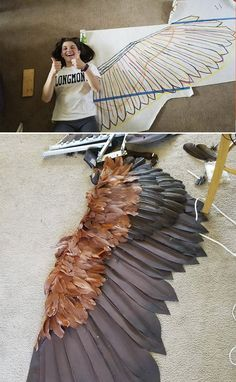 Cosplay Wings, Cosplay Diy, Cosplay Makeup, Cosplay Outfits, Diy Wings, Prop Making, Cosplay Tutorial, Cardboard Crafts, Fursuit