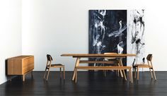 The Tentai Dining Room Furniture Set from Haiku Designs is one of the most eco-friendly furniture sets on the market today because it is constructed from solid bamboo wood.