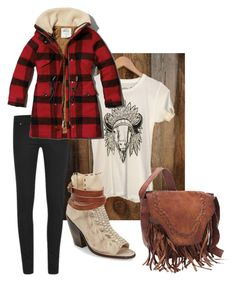 A fashion look from November 2015 featuring pink t shirt, vintage jackets and cheap monday jeans. Browse and shop related looks. Country Girls Outfits, Girl Outfits, Casual Outfits, Country Fashion, Cheap Monday, Buffalo Plaid, New Trends, Baby Love, Abercrombie Fitch