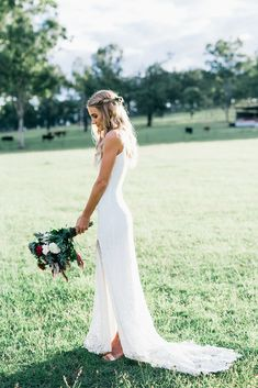 Chase and Terri's simple and elegant wedding featuring our timeless Lottie gown.