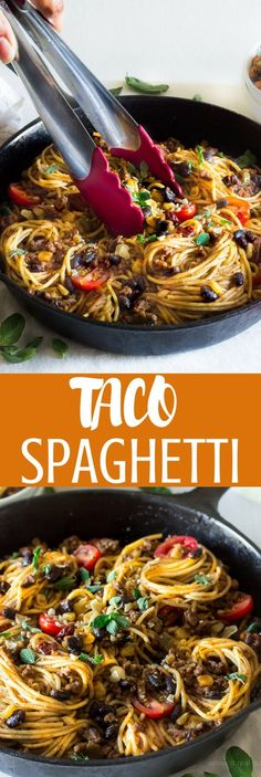 My taco spaghetti is