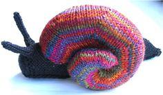 Knitted Garden Snail #knit #knitting #yarn