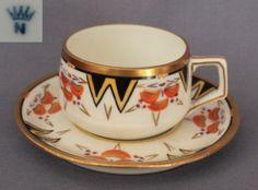 Art Deco Coffee Can with Saucer // Mokka/Mocca Tasse + UT Donatello Form