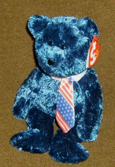 56401ab9b3b TY Beanie Babies POPS Bear Date of Birth June 16