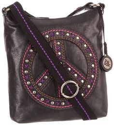 Women's Cross-Body Handbags - The SAK Peace Cross BodyBlackOne Size ** Click on the image for additional details.