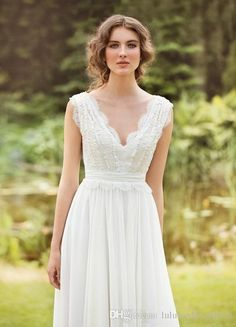 Wholesale gothic wedding dresses, inexpensive wedding dresses and red wedding dress on DHgate.com are fashion and cheap. The well-made  Designer 2015 Fall Wedding Dress Bohemian Wedding Gowns Made With Chiffon Appliqued Top Lace V Neck Cap Sleeves Ruffles Women Formal Dres sold by luluweddingdress is waiting for your attention.