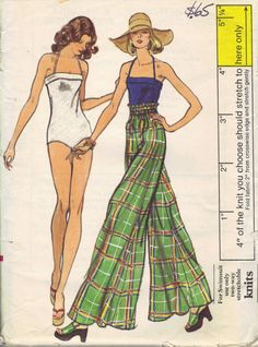 1970s Retro Swimsuit Vintage Vogue 8881 by AdeleBeeAnnPatterns, $12.00