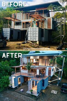 Shipping Container Home Designs, Shipping Containers, Shipping Container Buildings, Building A Container Home, Sea Container Homes, Casas Containers, Small House Design, House Goals, Architecture Design