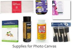A quick and easy photo canvas tutorial you can make in minutes. Photos Onto Canvas, Canvas Pictures, Canvas Photo Transfer, Photo Canvas, Mod Podge Crafts, Fabric Crafts, Wood Crafts, Diy Canvas Art, Canvas Ideas