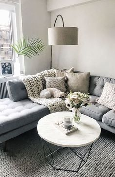 Cool 90 Fabulous Modern Minimalist Living Room Layout Ideas The post 90 Fabulous… – Living Room Inspiration – Living Room Ideas Cozy Living Rooms, My Living Room, Home And Living, Apartment Living Rooms, Living Room Lamps, Living Room Decor Grey Couch, Corner Sofa Living Room Layout, Modern Living Rooms, Living Area