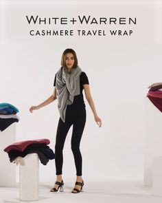 The Cashmere Travel Wrap is the most iconic piece of the whole White + Warren collection. We often get asked how exactly to wear the wrap. So, we decided to make a video showing you how to wear the st Winter Mode Outfits, Winter Fashion Outfits, Diy Fashion, Ideias Fashion, Office Fashion, Fall Outfits, Womens Fashion, Ways To Tie Scarves, Ways To Wear A Scarf