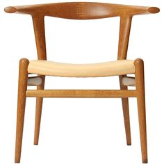 the Bullhorn chair by Hans J. Wegner | From a unique collection of antique and modern dining room chairs at http://www.1stdibs.com/furniture/seating/dining-room-chairs/
