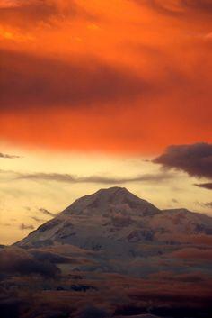 Sunset over Denali, Alaska