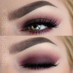 burgundy smokey eye @tangerine_tea_x | #cranberry / berry red makeup