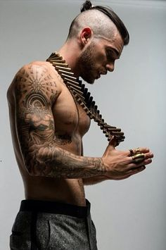 Geez, I mean look at his tats *heavy breathing* #bae