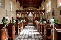 Inside of St. Mary's Chapel at Sudeley. Queen Katherine Parr is buried to the left of the altar (through the arch).