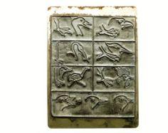 Tampon scolaire oiseaux bec patte tête vintage caoutchouc - Ancien timbre d'écolier cachet école 1950 - Matériel éducatif scrapbooking
