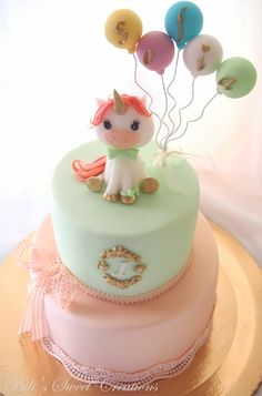 1. birthday unicorn cake