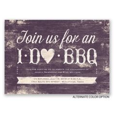 I Do BBQ Engagement Party Invitations at Invitations By Dawn