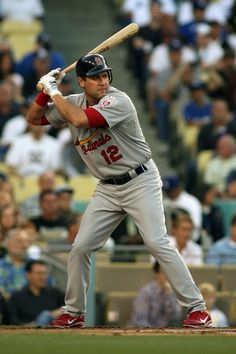 5-19-12: Lance Berkman bats against the Dodgers in the first inning.