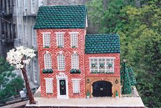 "Former Third-Place Winner Molli Dowd of New York City, who has made gingerbread houses for years, was urged by her sister to enter our annual contest. ""She sent me the contest rules and told me I should enter,"" says Dowd, mother of Samantha, 2. So she built a brick home that resembles the venerable ones in her West Village neighborhood. Her secret ingredients: gum, for the roof; uncooked linguine noodles, frosted with diluted icing and cut, for the window trim; and popcorn, for the treetops."
