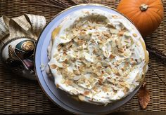 Luscious Autumnal Pavlova with Brown Sugar Lime Curd Impressive Desserts, Snack Recipes, Snacks, Creamed Eggs, Toasted Almonds, Pavlova, Cooking Time, Brown Sugar, Lime