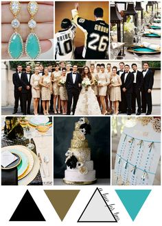 Black White Gold And Turquoise Pittsburgh Penguins Inspired Wedding Hockey Colors A Hue For Two