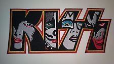 Large  KISS embroidered patch sew iron on hard rock heavy metal band  music DIY in Crafts, Sewing, Embellishments & Finishes, Patches | eBay