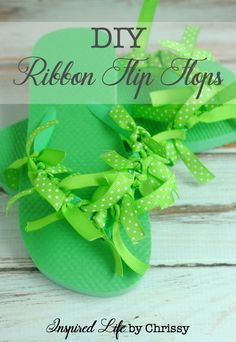 DIY Ribbon Flip Flop