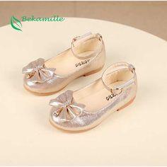 Più nuovo Autunno Ragazze scarpe di cuoio delle ragazze Dei Bambini del  bambino della principessa bowknot 1f6c1be21c1