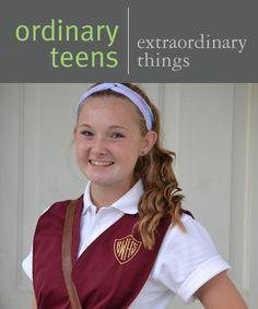 Ordinary Teens Doing Extraordinary Things - Dena Wenzinger   Face Forward Columbus   Bishop Watterson