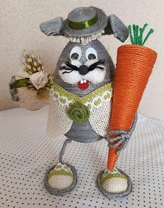 Jute Crafts, Diy Crafts, Paste, Summer Deco, Ribbon Art, Spring Crafts, Sisal, Easter Crafts, Easter Eggs