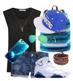 """""""Little boy Blue """" by taylordaniell on Polyvore featuring T By Alexander Wang, J.Crew, Casetify, Mudd, Ray-Ban, Cresta Bledsoe and Chan Luu"""