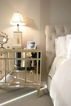 Mirrored + Horchow + Nightstand Design Ideas, Pictures, Remodel, and Decor - page 5